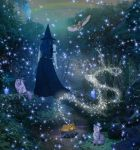 Magical Night of the Blue Witch by WyckedAngel