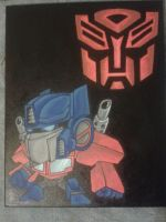Optimus painting by thecrass1