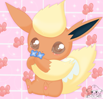 cute flareon by jirachicute28