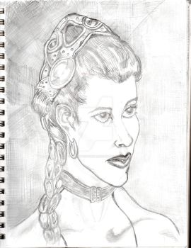 carrie fisher  as leia by desertdogg2006