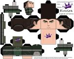 Kuvira Cubeecraft from Legend of Korra Template by SKGaleana