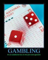 Gambling demotivator by quamp