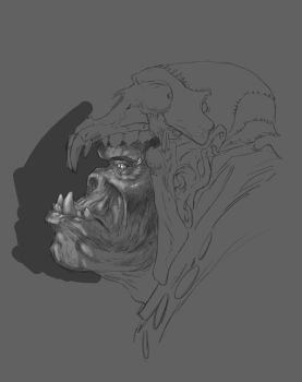 Old Ork WIP by whyteboxer