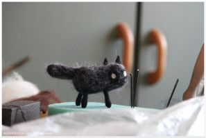 Felting - Pellet cat 2. by Moonticore
