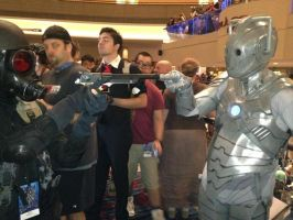A Cyberman prevents Hunk from deleting him by W4RH0US3