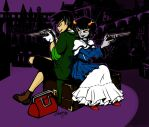 Double Pistols and a Dame by Cheppoly