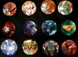 Monsters BUTTONS by Flying-Fox