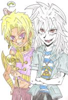 Marik and Bakura by CandraRose