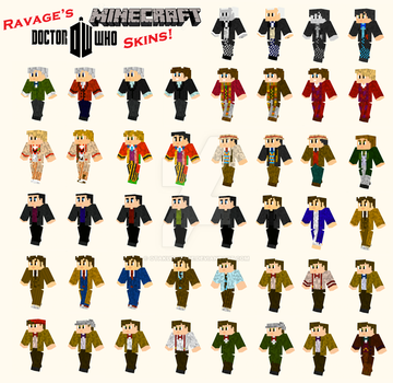 Doctor Who Minecraft Skins - Original Collection by OtakuRavage