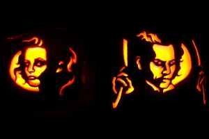 Sweeney Todd Pumpkins by ultragames