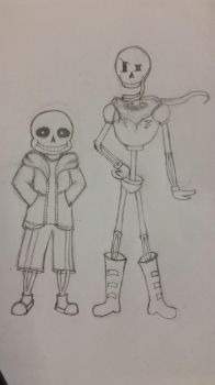 Undertale: Sans and Papyrus by RCTheAnimatedGamer