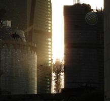 Moscow-city_alien invasion by michail-ermakov