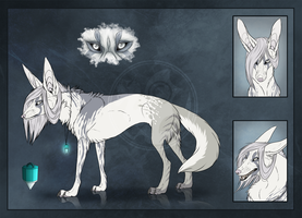 Commission - White Eyes by Mikaley