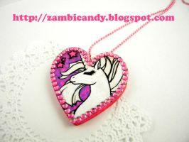 hand painted white unicorn by zambicandy