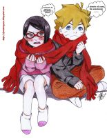 naruto THE LAST -Boruto y Sarada by shinamvec