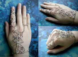 Wire Wrapped Henna Slave Bracelet *SOLD* by RachaelsWireGarden