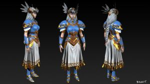 Valkyrie Profile Lenneth WIP by MeganeRid