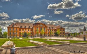 Komarom.The Liberty Square. Hungary.  HDR-pictute. by magyarilaszlo