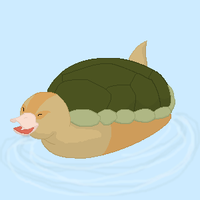 Turtle Duck by Goldencloud