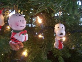 Charlie Brown and Snoopy Christmas Ornament by agentbananayum