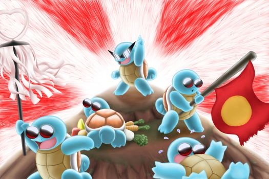 SQUIRTLE SQUAD by Mit-Man