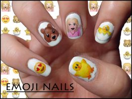 Emoji Nails by Ninails