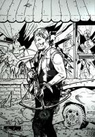 THE WALKING DEAD ISSUE 1 DARYL DIXON VARIANT INKED by BUMCHEEKS2