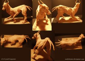 Demon Dog Unpainted by soulofwinter