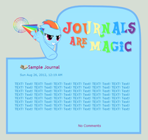 Journals Are Magic - Rainbow Dash by CassidyCreations