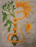 rod of Asclepius by Chequer