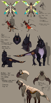 Tarspawn character redesigns by umbbe