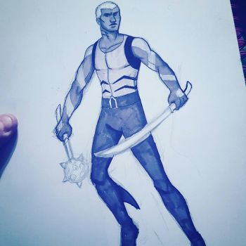 Aqualad - Sketch by NowhereManArt