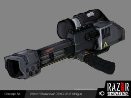 Weapon - 'Sharapova' Minigun by HozZAaH