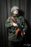 In my Airsoft outfit by Zoltaniev