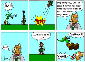 Link is crazy by Kurvos