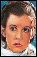 ESB Leia Sketch Card by MJasonReed