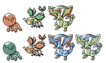 Trapinch Vibrava Flygon GSC Sprites by Axel-Comics
