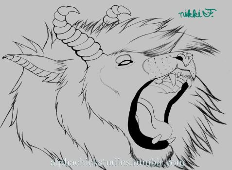 Beast-lineart by TechieGeekk