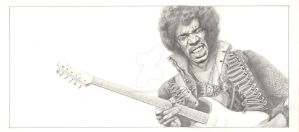 Jimi Hendrix pencil by Stew-Illustrations