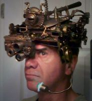 Steampunk helmet side view by pinochioO-5