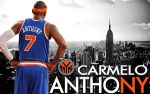 Carmelo Anthony Knicks Wall by rhurst