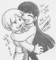 Wally and Kuki Hug by Garabatoz
