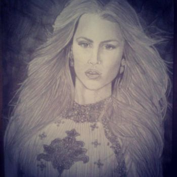 Claire Holt drawing (First attempt) by wayne177