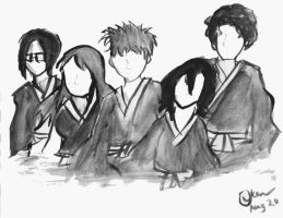 Bleach- Black and White by airbendergal