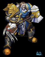 Commission - Old Uther the lightbringer by McFjury