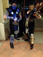 Katsucon 2014: Sub Zero and Scorpion by SpikeJet2736