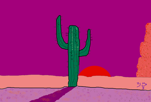 CACTUS SUNSET No.2 by Zayd-Depaor