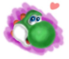 Yoshi fast painting by DespairSoul