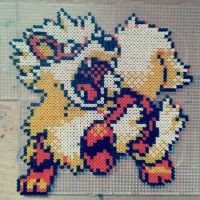 Arcanine in beads by fromlusttodust