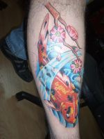 koi tattoo by nakedarttattoo